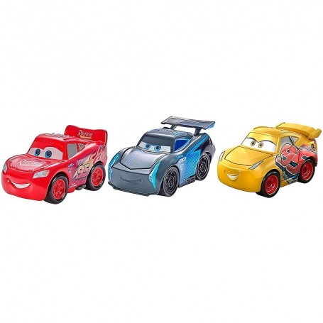 PACK 3 MINI COCHES RACERS METALLIC CARS 3