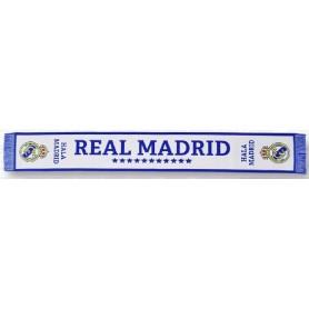BUFANDA REAL MADRID TELA BLANCA