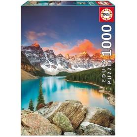 PUZZLE 1000 LAGO MORAINE, BANFF N.PAR CANADA