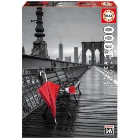 PUZZLE 1000 PARAGUAS ROJO, COLOUR B&W