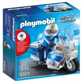 MOTO DE POLICÍA CON LED PLAYMOBIL 6923