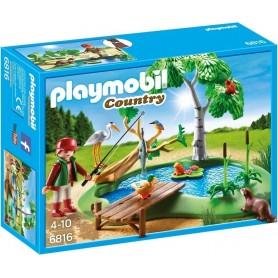 LAGO CON ANIMALES PLAYMOBIL 6816