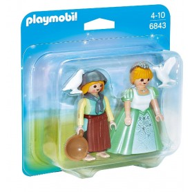 DUO PACK PRINCESA Y GRANJERA PLAYMOBIL 6843