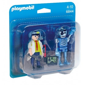 DUO PACK CIENTÍFICO Y ROBOT PLAYMOBIL 6844
