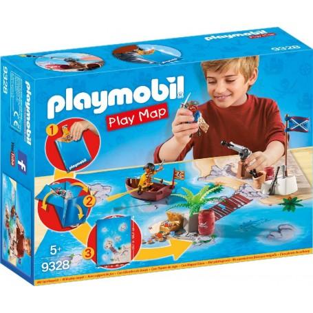 PLAY MAP PIRATAS PLAYMOBIL 9328