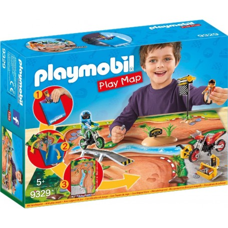 PLAY MAP MOTOCROSS PLAYMOBIL 9329