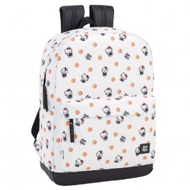 MOCHILA ORDENADOR HELLO KITTY POLKA DOTS 43CM