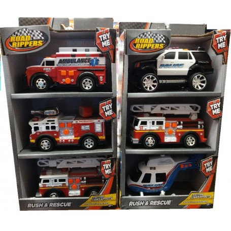 SET 3 VEHICULOS DE RESCATE