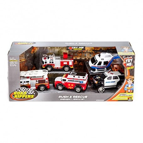 SET 5 VEHICULOS DE RESCATE