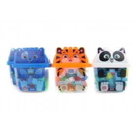 ANIMAL BLOCKS (SURTIDO) BOTE 25 BLOQUES CONSTRUCCIÓN