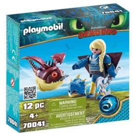 PLAYMOBIL DRAGON 3 ASTRID CON GLOBOGLOB 70041