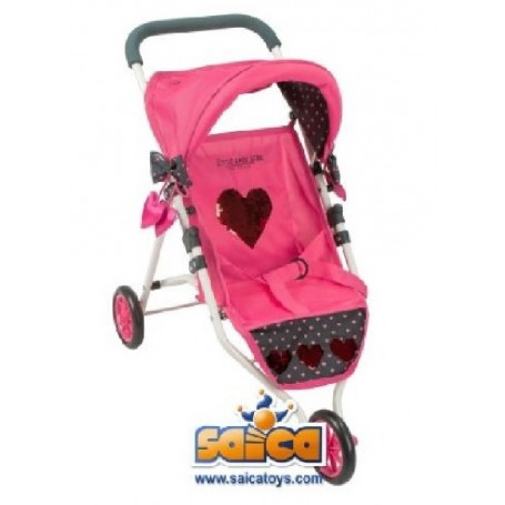 SILLA MUÑECAS 3 RUEDAS JOGGER LITTLE ROCK STAR