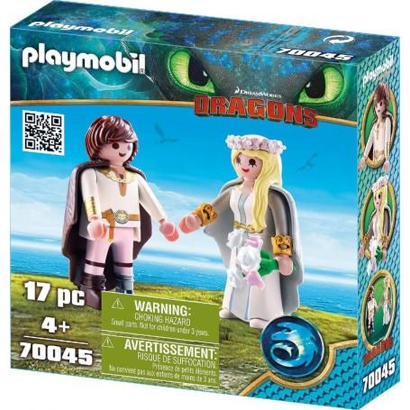 HIPO Y ASTRID DRAGONS PLAYMOBIL 70045