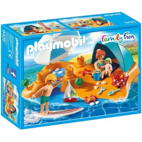 FAMILIA EN LA PLAYA PLAYMOBIL 9425