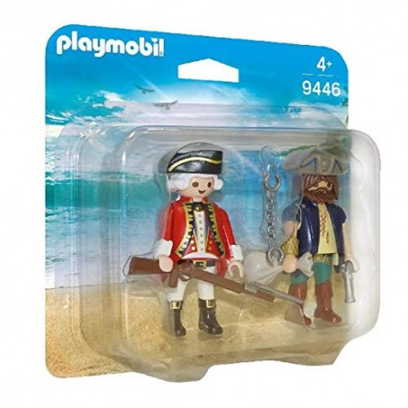 PLAYMOBIL PIRATES PIRATA Y SOLDADO 9446
