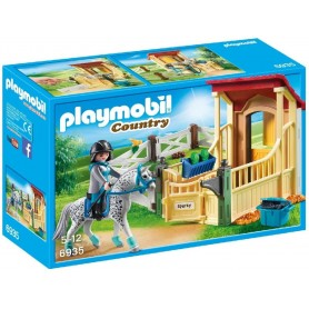 CABALLO APPALOOSA CON ESTABLO  PLAYMOBIL 6935