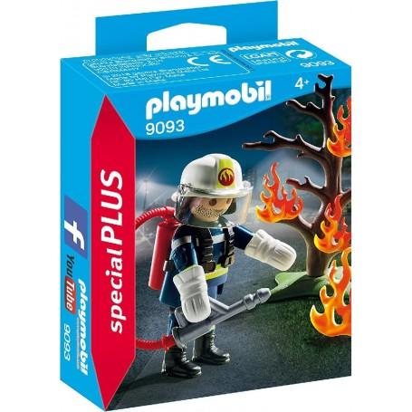 BOMBERO CON ÁRBOL EN LLAMAS  PLAYMOBIL 9093