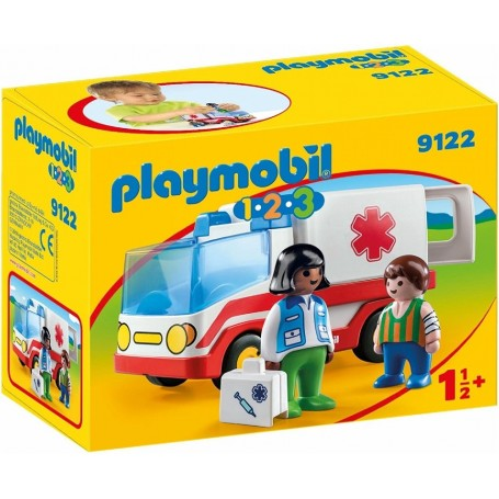 1.2.3 AMBULANCIA  PLAYMOBIL 9122