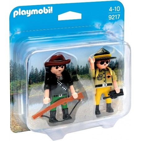 DUO PACK RANGER Y CAZADOR FURTIVO PLAYMOBIL 9217
