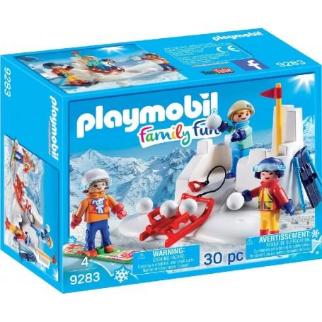 LUCHA DE BOLAS DE NIEVE  PLAYMOBIL 9283