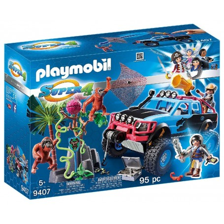MONSTER TRUCK CON ALEX Y ROCK BROCK PLAYMOBIL 9407
