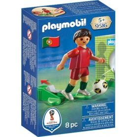 JUGADOR DE FÚTBOL - PORTUGAL PLAYMOBIL 9516