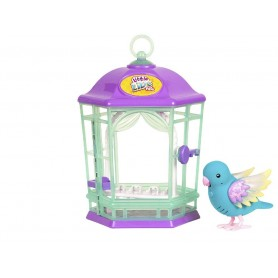 LITTLE LIVE PETS CON JAULA SERIE 8 (AZUL) LUMINOSOS