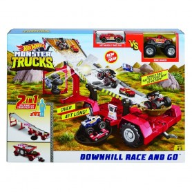 HOT WHEELS - MONSTER TRUCKS CARRERAS CON RAMPA