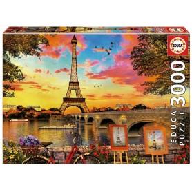 PUZZLE 3000 - PUESTA DE SOL EN PARIS
