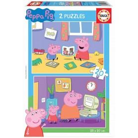 PUZZLE 2X20 PZ PEPPA PIG