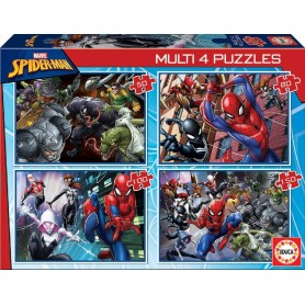 MULTI 4 PUZZLES SPIDER-MAN PROGRESIVO
