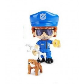 PINYPON ACTION - POLICIA CHICO CON PERRO BULLDOG