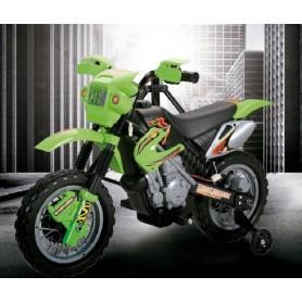 MOTO MOTOCROS 6V 4AH VERDE