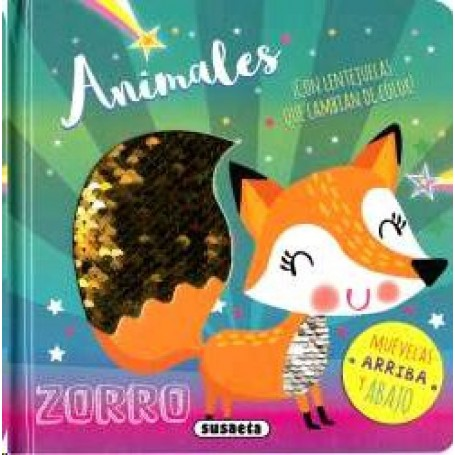 LIBRO ANIMALES  (LENTEJUELAS)