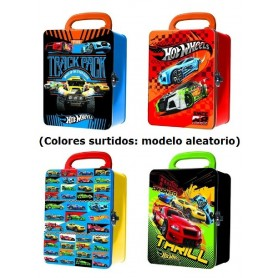 HOT WHELLS - CAJA METALICA PARA 18 COCHES