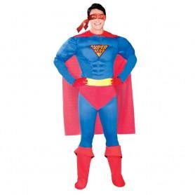 DISFRAZ DE SUPERHEROE SUPERMAN ADULTO T.M