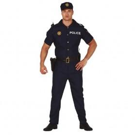 DISFRAZ DE POLICIA MANGA CORTA ADULTO T.M