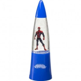 LAMPARA DE LAVA GLITTER SPIDERMAN