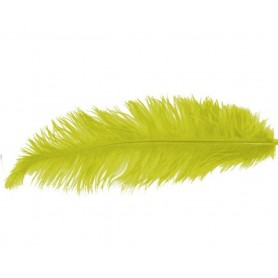 PLUMA AVESTRUZ COLOR AMARILLO