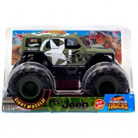 HOT WHEELS - MONSTER TRUCKS  AMY JEEP 1:24