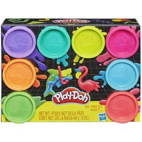 PLAY-DOH PACK 8 BOTES NEON