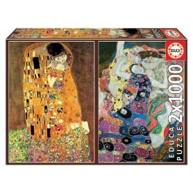 PUZZLE 2x1000 EL BESO + LA VIRGEN, GUSTAV KLIMT