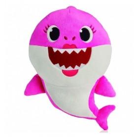 BABY SHARK- PELUCHE MUSICAL MOMMY SHARK, ROSA