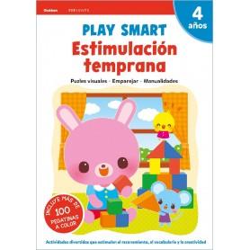 LIBRO PLAY SMART : ESTIMULACIÓN TEMPRANA. 4 AÑOS