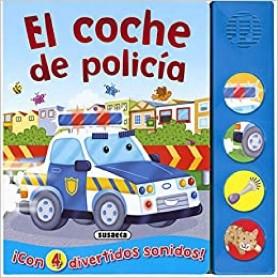 LIBRO DE CARTON CON SONIDO EL COCHE DE POLICÍA