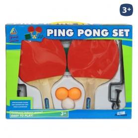 SET PING PONG 2 RAQUETAS 3 PELOTAS Y RED