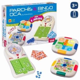 PACK 3 JUEGOS PARCHIS OCA AUTOMATICO Y BINGO ELECTRICO