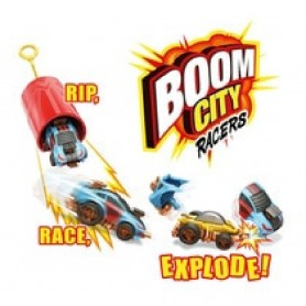 COCHES BOOM CITY RACER CAR RIP & CORD