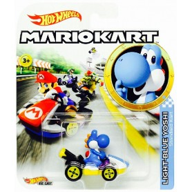 HOT WHEELS - MARIO KART VEHICULO YOSHI BLUE