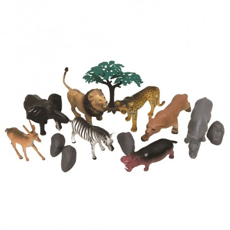 BOTE 13 PIEZAS ANIMALES SALVAJES- NATIONAL GEOGRAPHIC